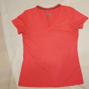 Nike Dri-fit pink V-neck shirt women size medium